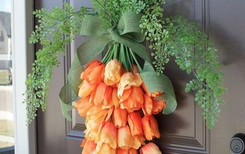 spring carrot door hanger, doors