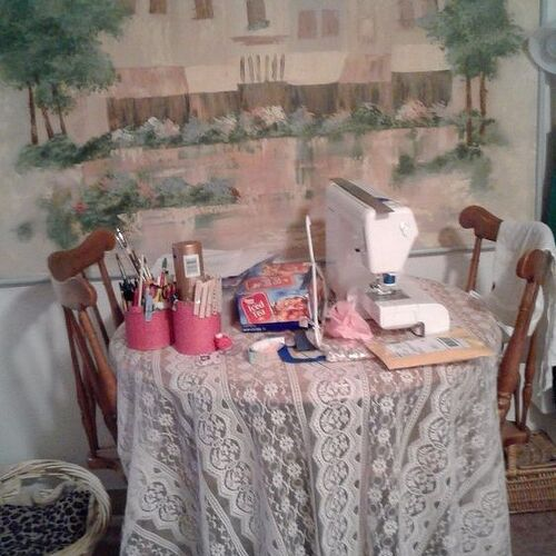 supposed to be a dining table but crafts have a way of invading