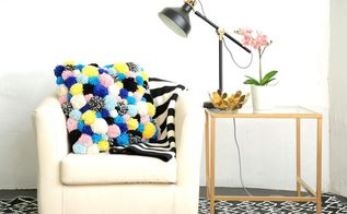 diy pom pom cozy accent pillow