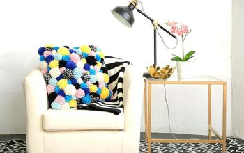 DIY Pom-Pom Cozy Accent Pillow