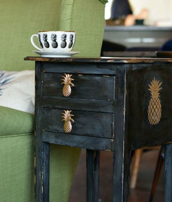 s 15 insanely cute reasons to add pineapple to your decor, home decor, They transform shabby pieces into chic ones