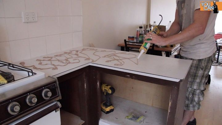 Install A Kitchen Countertop (Without Removing The Old One)   Hometalk