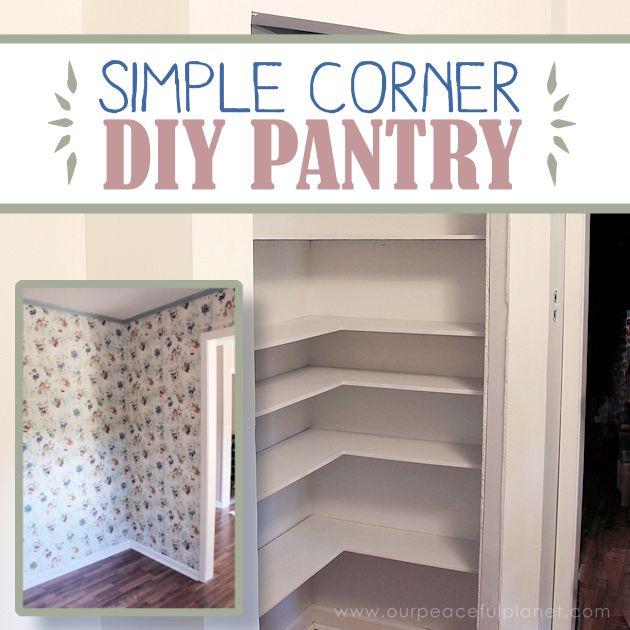 Building Plans For Corner Pantry
