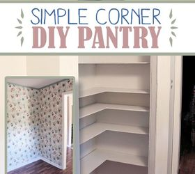 Lovely Diy Corner Pantry, Closet