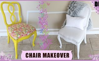 diy thrift chair upholstery makeover 3 00, reupholster