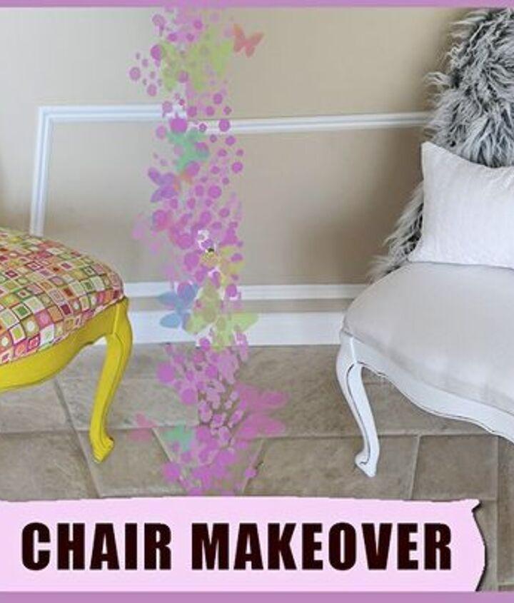 diy thrift chair upholstery makeover 3 00, reupholster