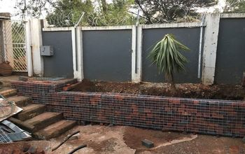 simple gabion retaining wall 1, concrete masonry