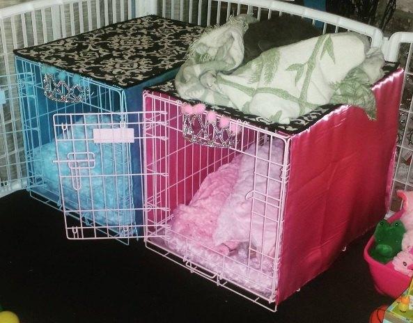 Easy DIY No Sew Pet Crate Cover | Hometalk