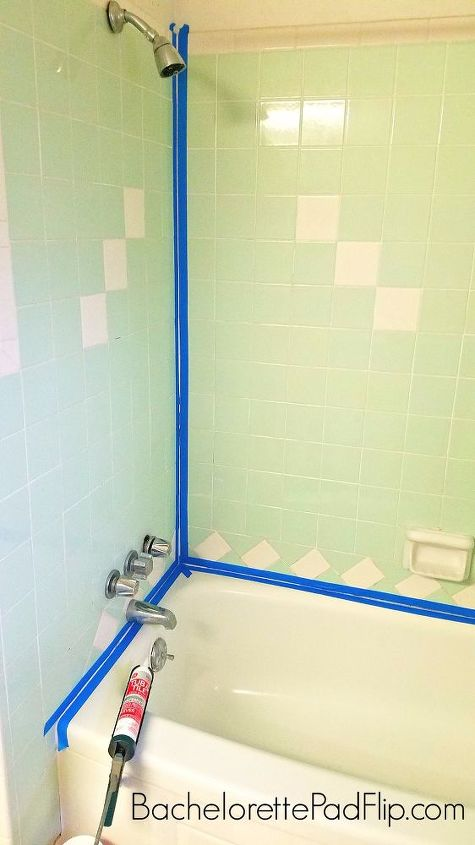 a woman tapes up her tub her cleaning trick i can t believe i never knew this hometalk. Black Bedroom Furniture Sets. Home Design Ideas