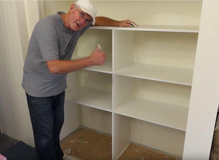 building closet wardrobe shelves, closet, shelving ideas, All Finished