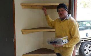 Floating Shelves Diagonal Heavy Duty For Garage Corner Garages Shelving Ideas