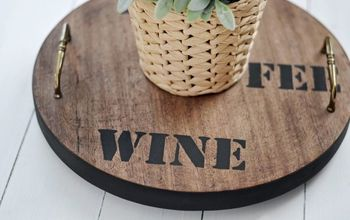 Upcycled Lazy Susan From an Old Stool