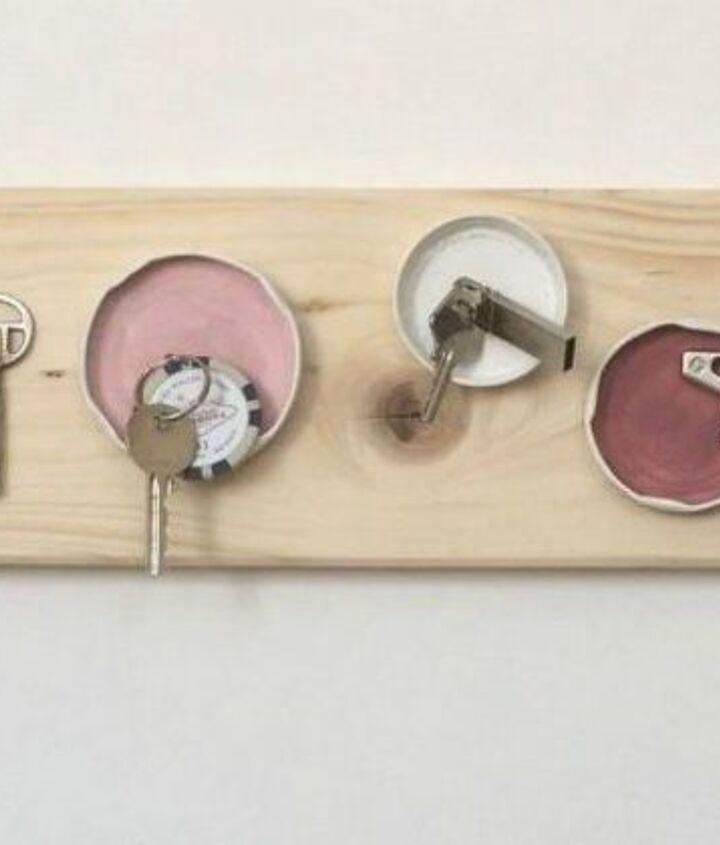 s 14 awesome things you didn t know you could do with jar and tin lids, Magnetize them into cute key holders