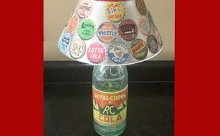 vintage soda bottle lamp, lighting