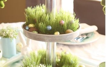 Easter Table Centerpiece Using a Three Tiered Stand