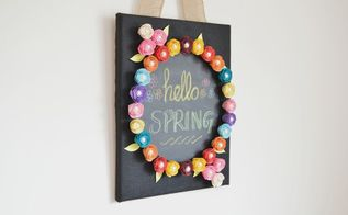 diy chalkboard canvas with interchangeable paper roses for all seasons, chalkboard paint, crafts, flowers, gardening