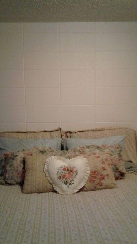 q cement block wall in bedroom, bedroom ideas, concrete masonry