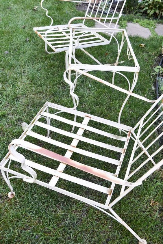 from curbside to runway outdoor furniture makeover, outdoor furniture, painted furniture