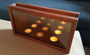 infinity mirror candle holders, home decor