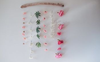 diy flower wall hanging, gardening