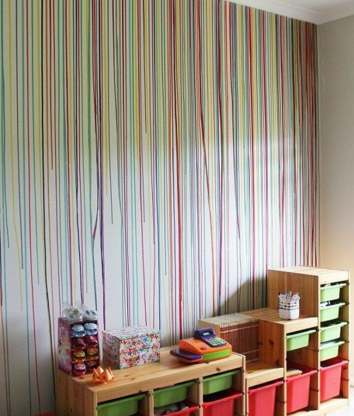 s 12 bedroom wall ideas you re so going to fall for, bedroom ideas, Use a syringe to drip paint a rainbow