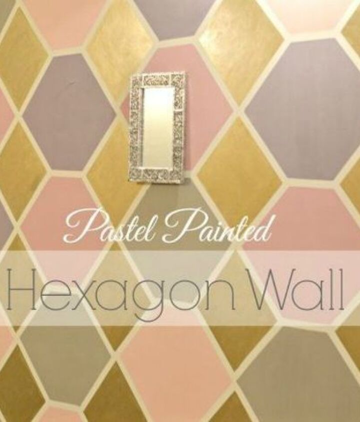 s 12 bedroom wall ideas you re so going to fall for, bedroom ideas, Use cardboard to paint pastel hexagons