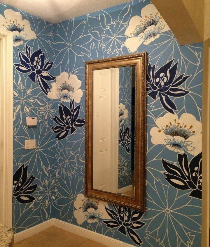 s 12 bedroom wall ideas you re so going to fall for, bedroom ideas, Use a patterned wallpaper for inspiration