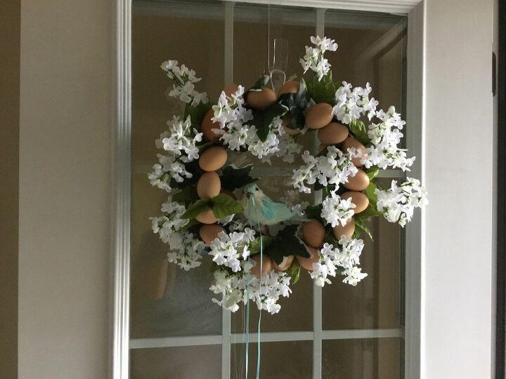 e wreath i made last spring, crafts, wreaths
