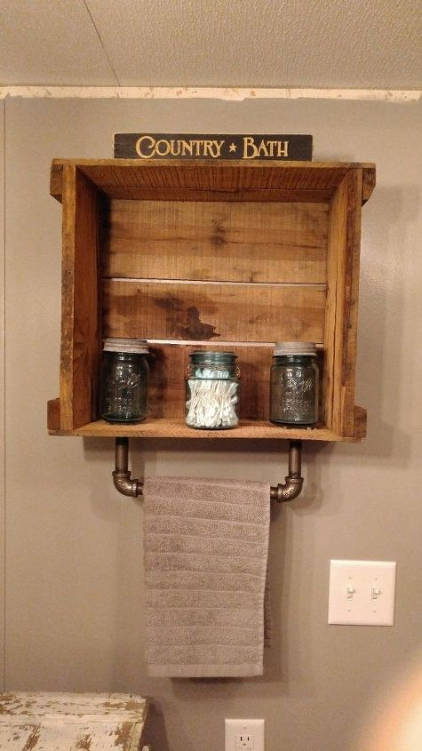 Industrial Meets Primitive Iron Pipe Towel Bar Amp Crate