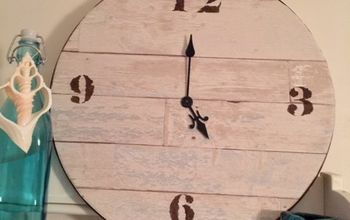 how to make a faux wood wall clock, how to