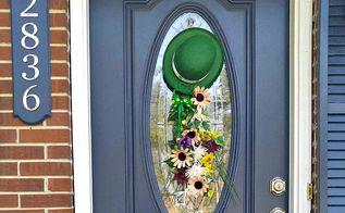 diy st patrick s day door swag, doors, seasonal holiday decor, valentines day ideas