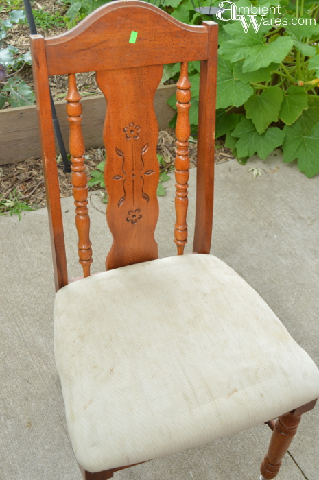 refurbished chair with added storage under the seat hometalk