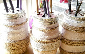 how to easily create stunning farmhouse mason jars, how to, mason jars