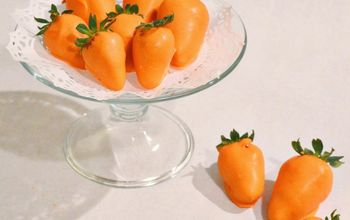 """Carrot"" White Chocolate Covered Strawberries"