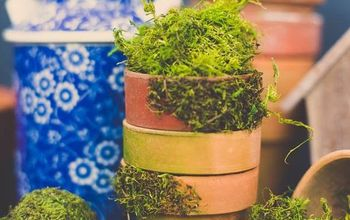 diy moss covered pots tutorial, how to