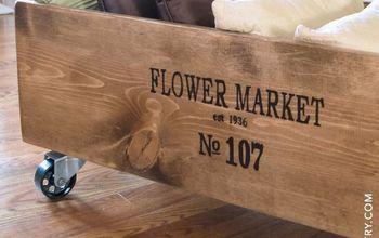 diy vintage flower market cart, gardening