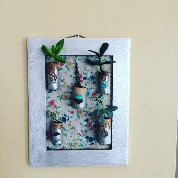 e easy diy cork picture frame garden