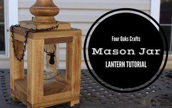 how to make a mason jar lantern, how to, mason jars, outdoor living