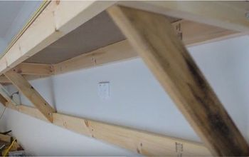 self supporting shelves heavy duty for garage shed workshop, garages, outdoor living, shelving ideas, Finished