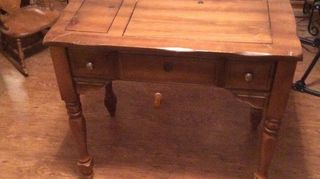 , THis is the table with a false front