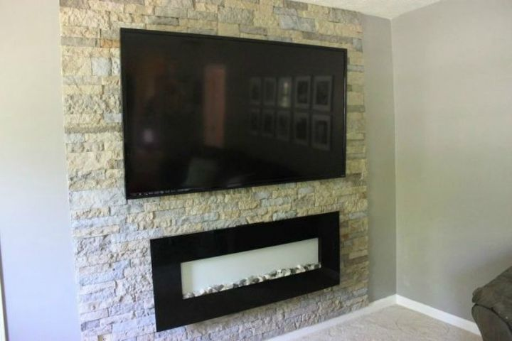 s 11 impressive ways to update your home with stone, concrete masonry, home decor, Revamp an accent wall in your living room