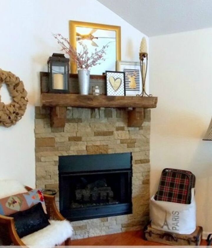 s 11 impressive ways to update your home with stone, concrete masonry, home decor, Update your dull and dingy fireplace