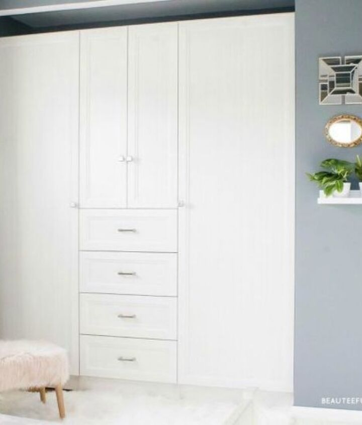 s these 13 closet improvements will make you smile, closet, Place doors and shelves inside your closet