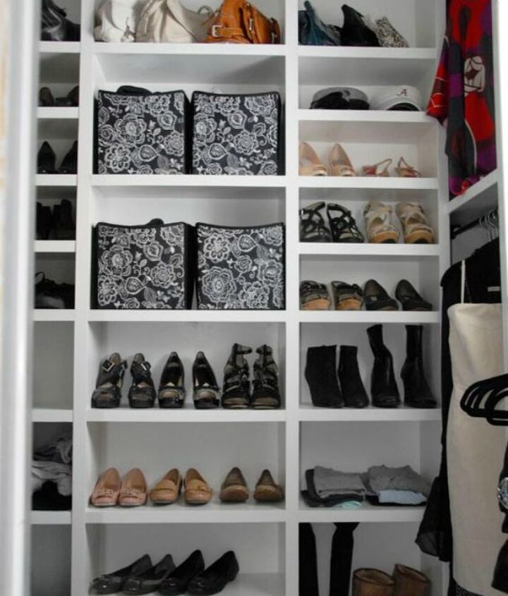 s these 13 closet improvements will make you smile, closet, Build shelves for all your shoes