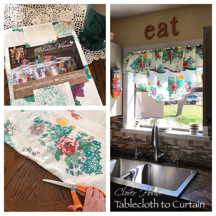 Pioneer Woman Tablecloth Turned Into Curtains Hometalk