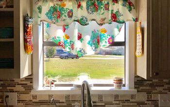 Pioneer Woman Tablecloth Turned Into Curtains