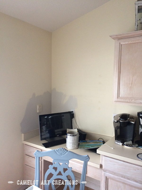 Kitchen Desk Area Makeover Design Painted Furniture