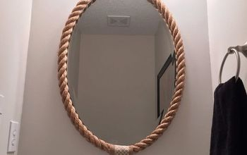 rope mirror frame, home decor