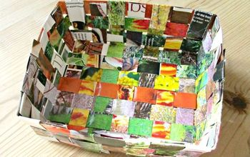 recycled magazine basket, crafts