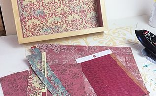 how to make paper decoupage without wrinkles, how to